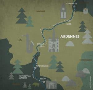 Itinéraire camping-car meuse