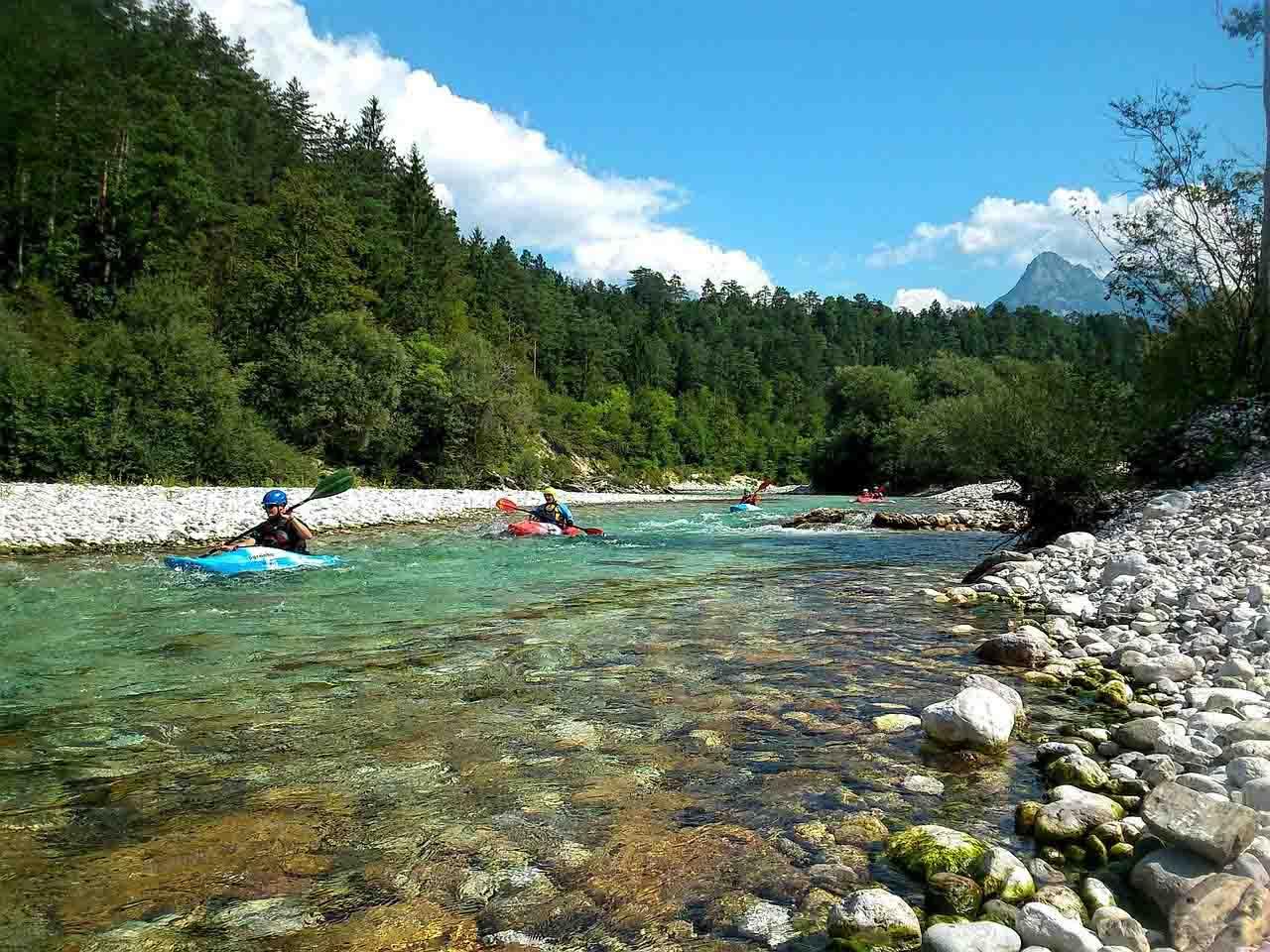 kayak slovénie