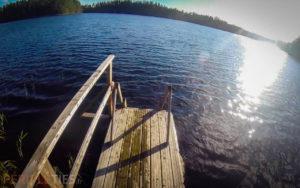ponton bois lac