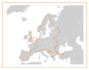 carte tour europe camping car