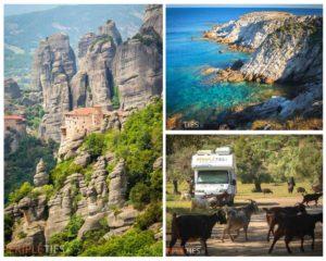 Grèce en Camping-Car Tour d'Europe Péripléties Météores Sithonia