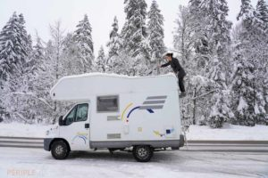 camping car neige